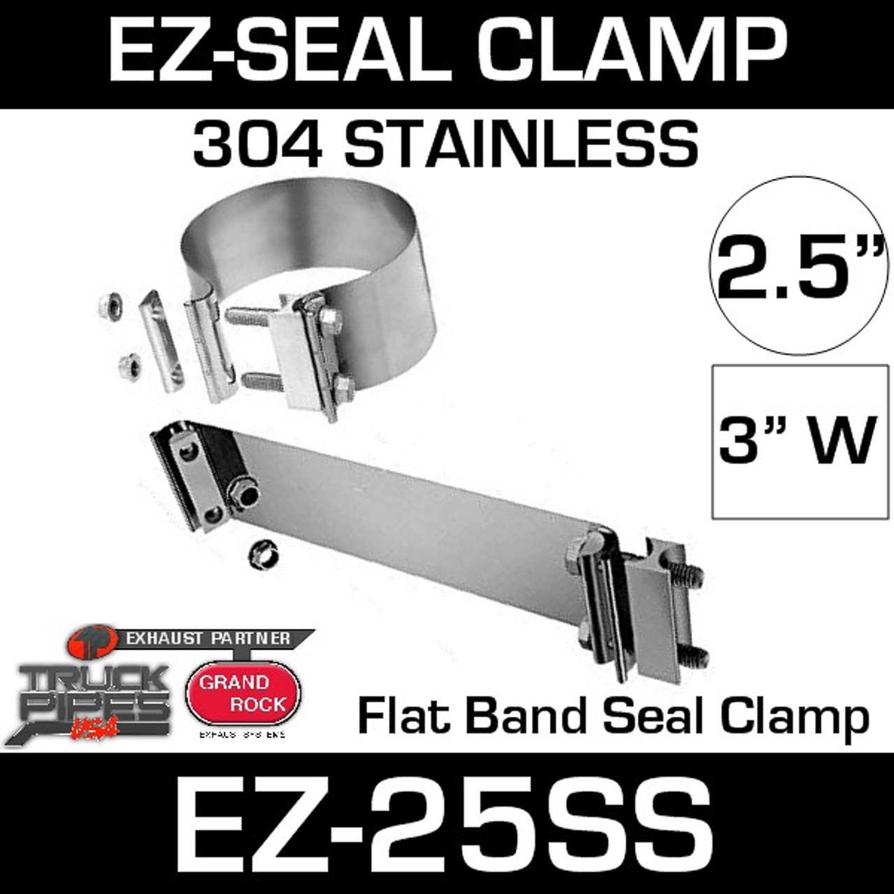 2 5 ez seal stainless steel exhaust clamp ez 225ss