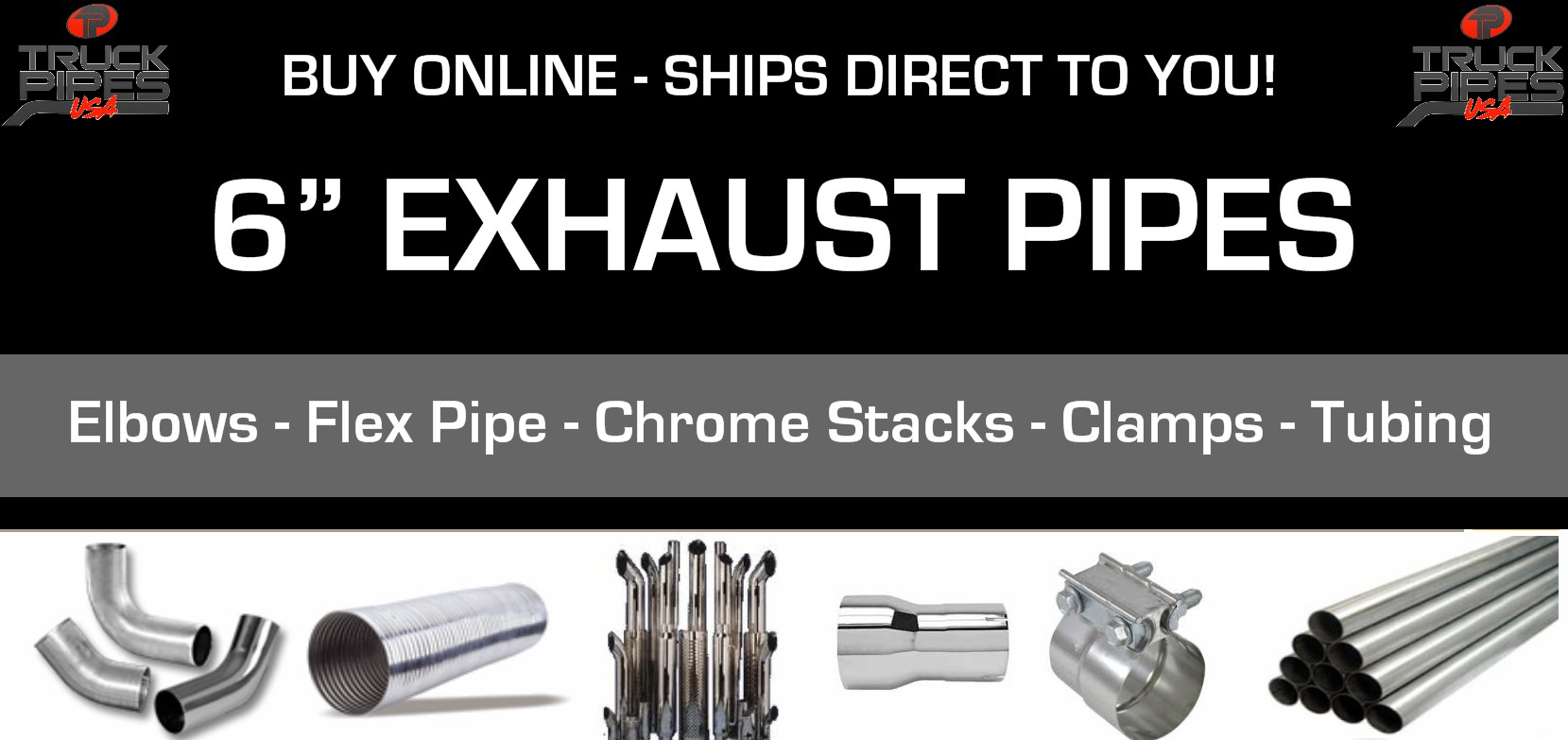 6 exhaust pipes truck exhaust 6