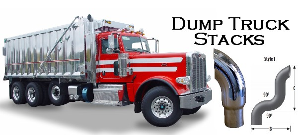 dump truck chrome stack pipes