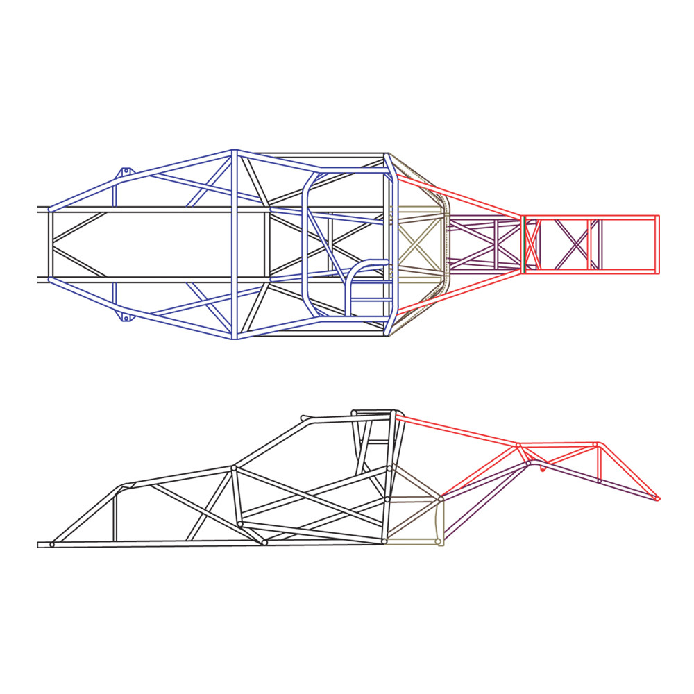 hight resolution of 4130 unwelded 25 1h pro stock truck chassis kit quarter max chassis racing components