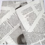 Paper Collage Napkins News Print Scrapalicious Delight