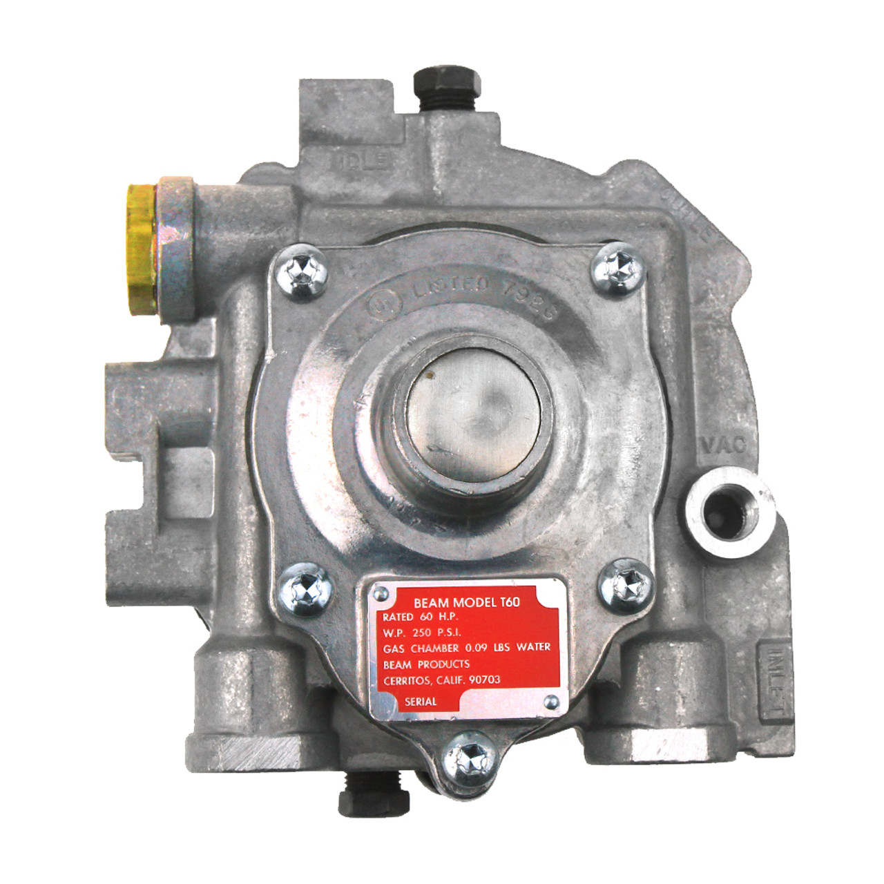 impco beam model t60 60 hp gas chamber propane forklift gas regulator  [ 1000 x 1000 Pixel ]