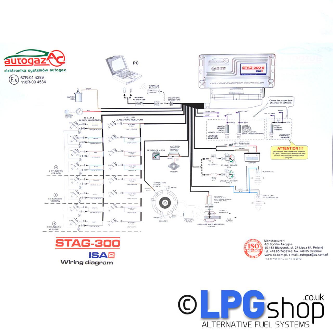 hight resolution of beam propane conversion wiring diagram wiring diagram fascinatingac stag 300 isa2 8 cylinder ecu controller beam