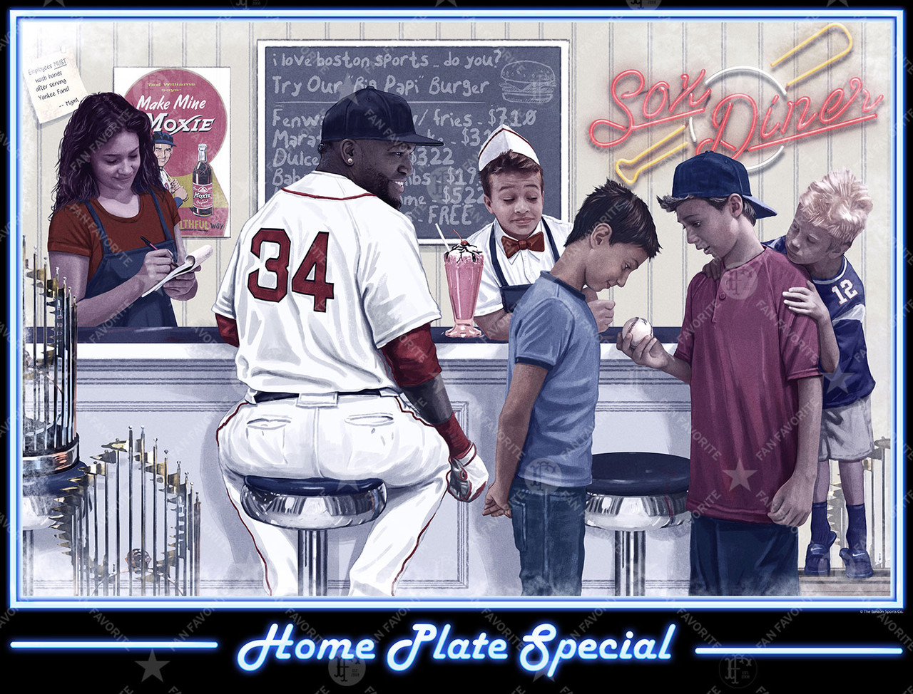 home plate special wall print