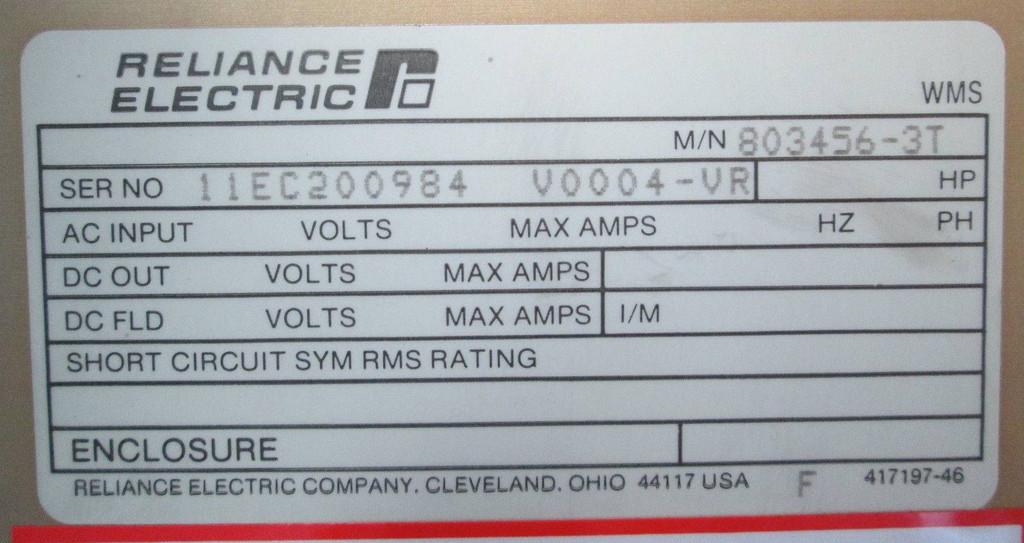 Reliance Electric Company Cleveland Ohio 44117
