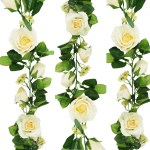 Yellow Rose Garlands 12 Color Options Artificial Wedding Flowers