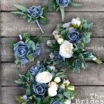 Wedding Bouquet Dusty Blue Rose Bridal Bouquet With Eucalyptus Small Thebridesbouquet Com
