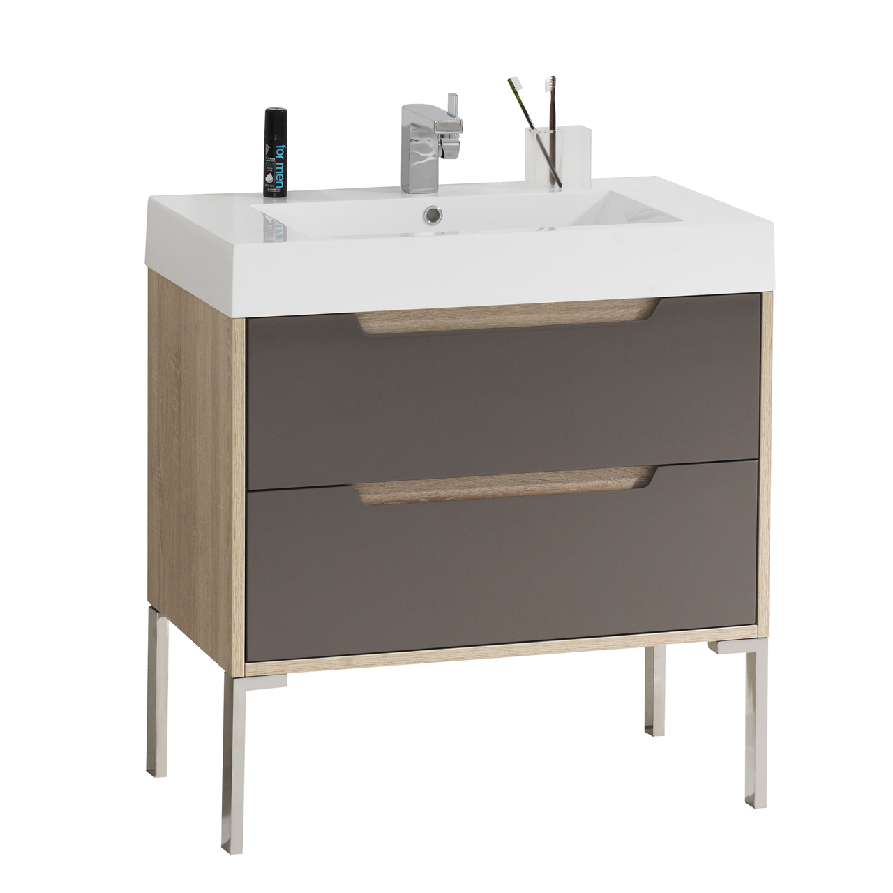 dyconn faucet vca80w32 bologna 32 bathroom vanity w one piece solid surface stone resin countertop basin vanity basin