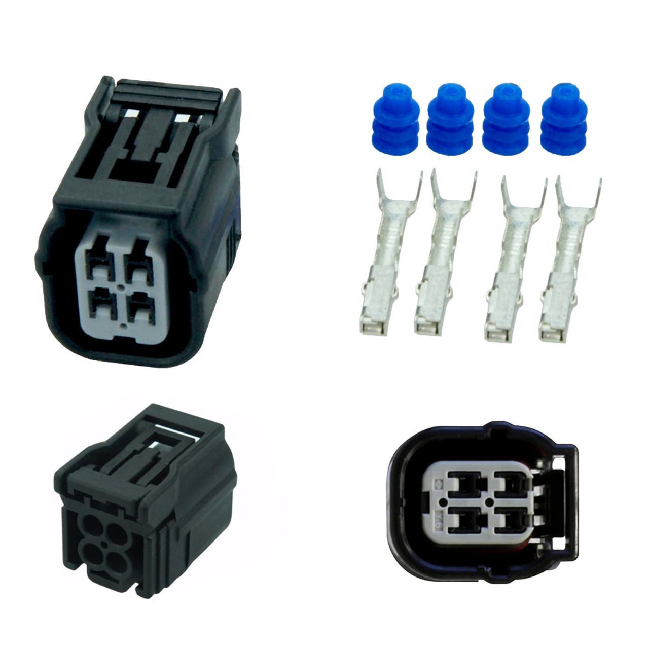 4 wire o2 oxygen sensor female connector harness kit for honda accord civic cr v [ 1280 x 1280 Pixel ]