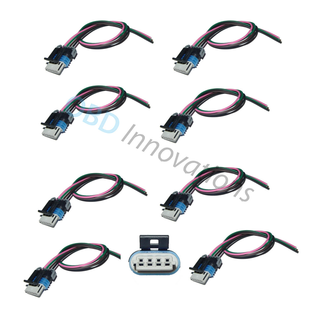medium resolution of 8x ignition coil pack connector pigtail for gm ls2 ls3 ls7 obd innovations