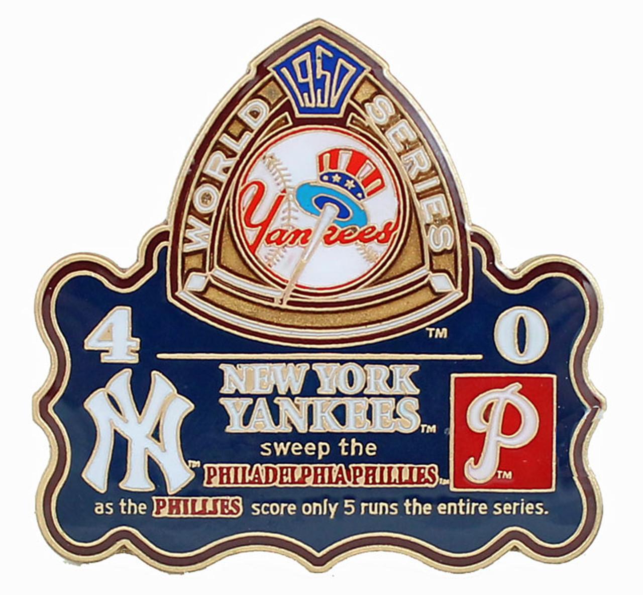 1950 World Series Commemorative Pin Yankees Vs Phillies