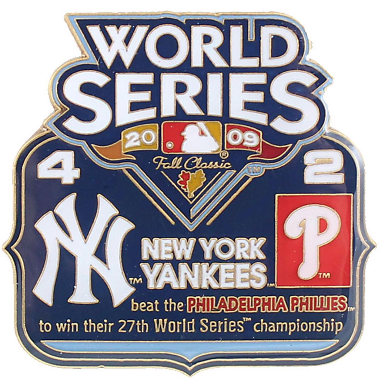 2009 World Series Commemorative Pin Yankees Vs Phillies