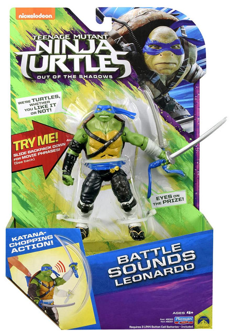 Teenage Mutant Ninja Turtles Out Of The Shadows Toys : teenage, mutant, ninja, turtles, shadows, Teenage, Mutant, Ninja, Turtles, Shadows, Battle, Sounds, Leonardo, Action, Figure, Playmates, ToyWiz