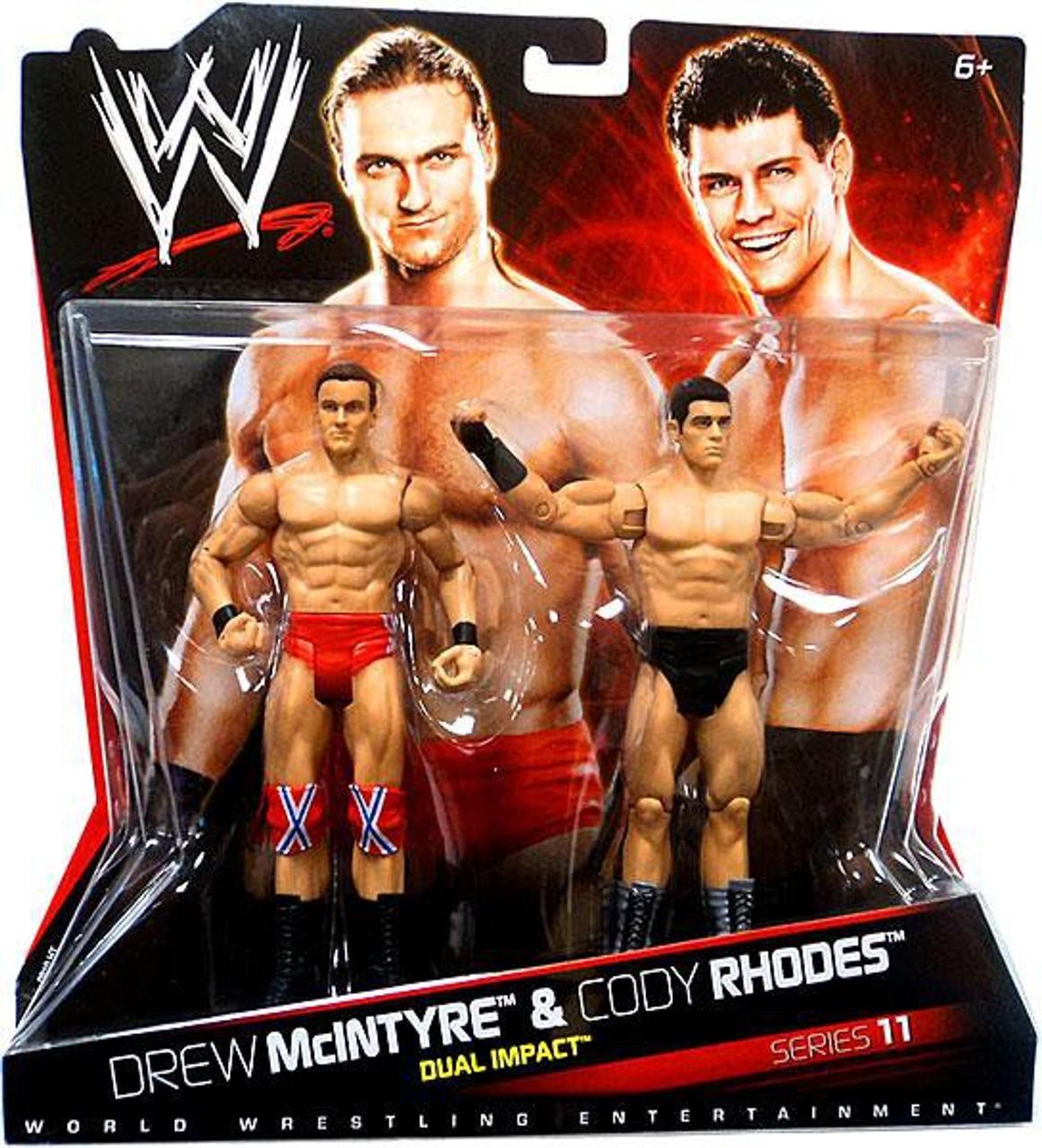 Wwe Wrestling Battle Pack Series 11 Drew Mcintyre Cody Rhodes Action Figure 2 Pack Mattel Toys Toywiz