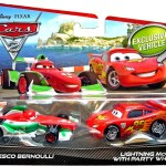 Disney Pixar Cars Cars 2 Francesco Bernoulli Lightning Mcqueen With Party Wheels 155 Diecast Car 2 Pack Mattel Toys Toywiz