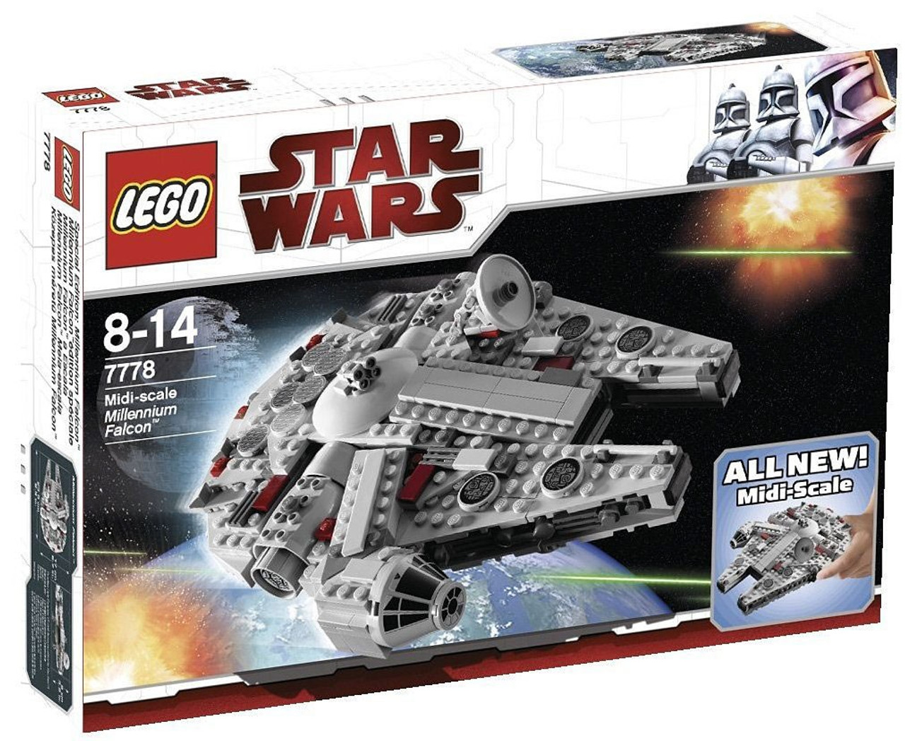Lego Star Wars A New Hope Midi Scale Millennium Falcon Set 7778