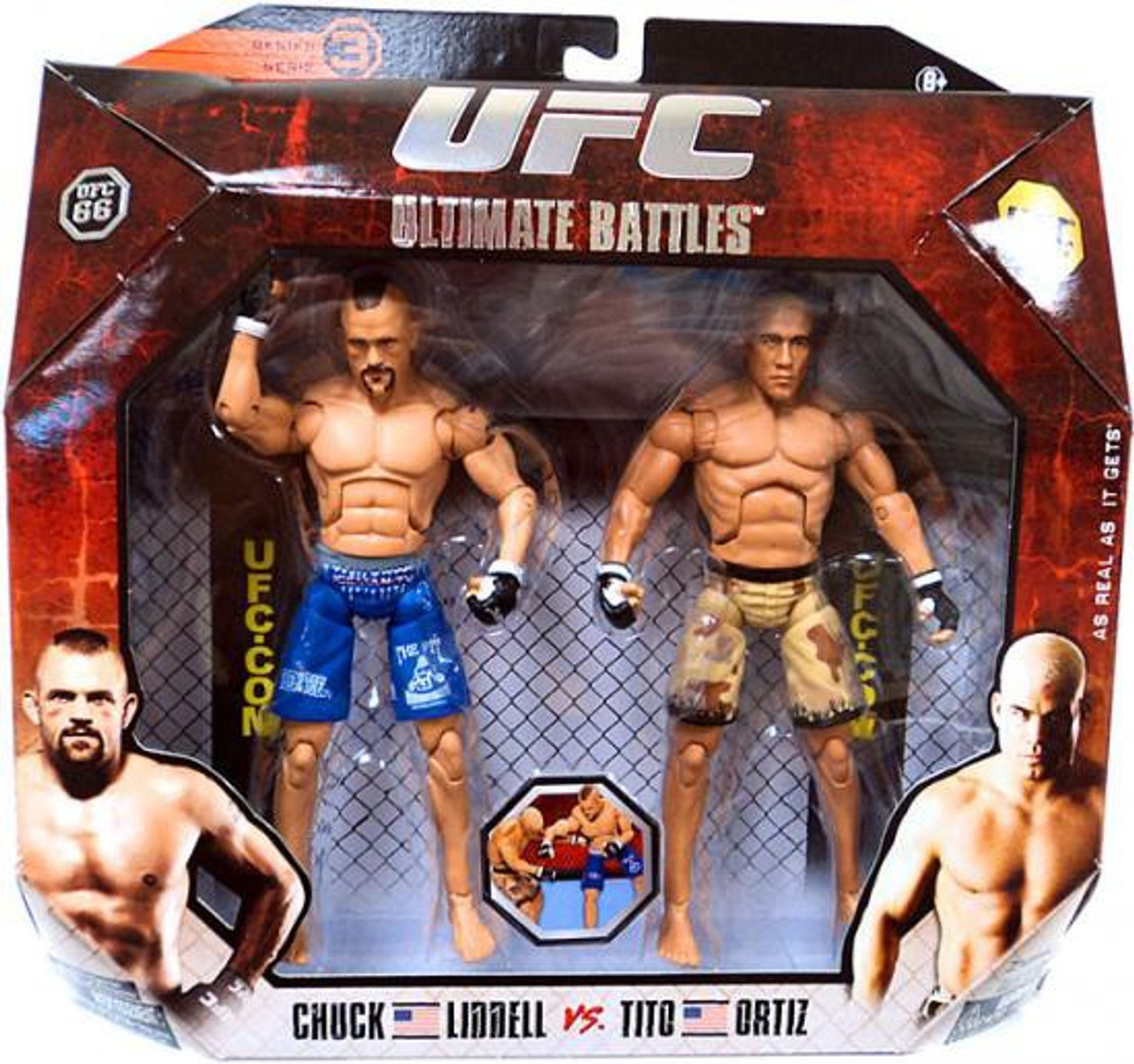 Ufc Ultimate Battles Series 3 Tito Ortiz . Chuck Liddell Action Figure 2-pack 66 Jakks