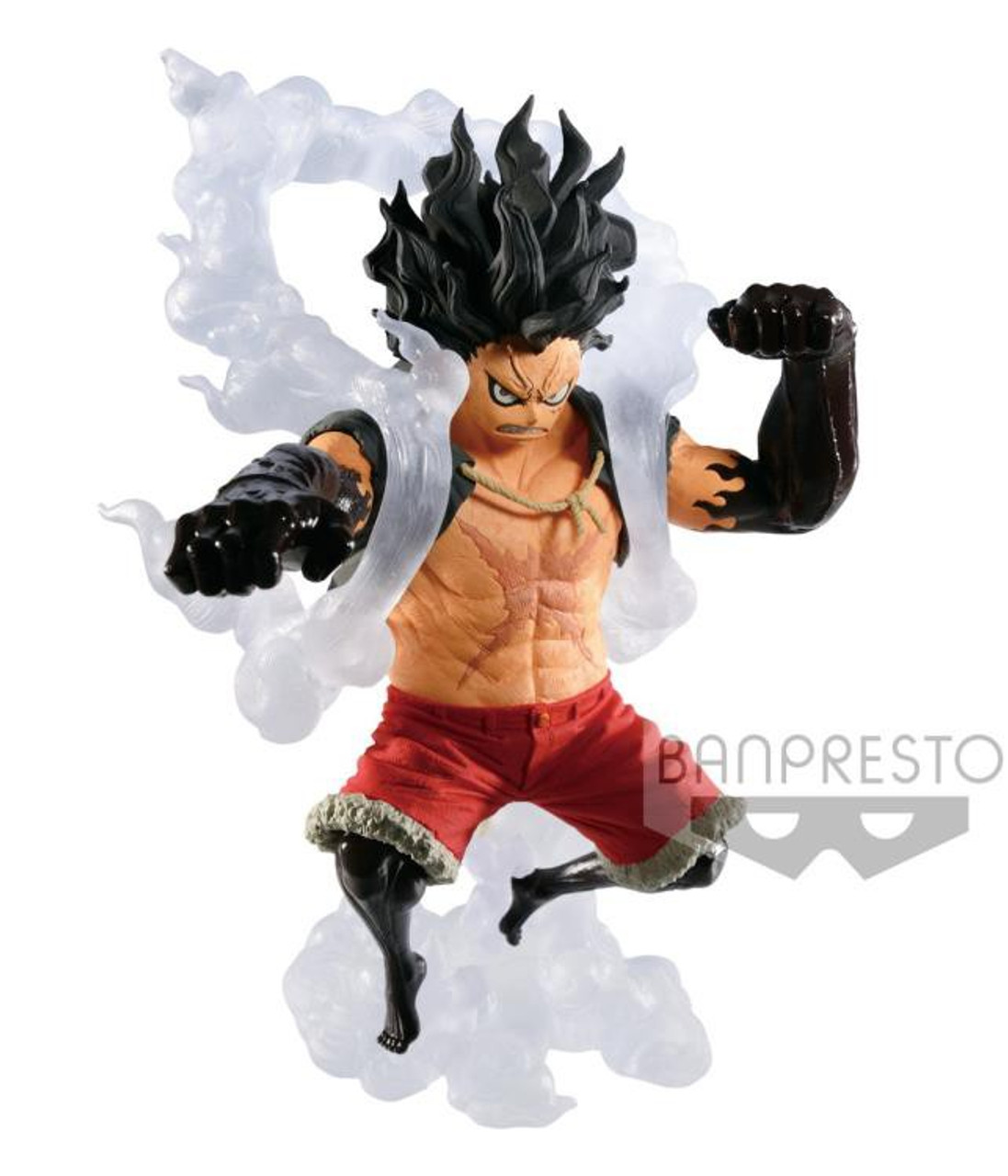 Assuming that his snake man form and his moves are inspired from his time and experience with hancock and her sisters how would she react if luffy … One Piece King Of The Artist Monkey D Luffy 5 5 Collectible Pvc Figure Gear Fourth Snakeman Banpresto Toywiz