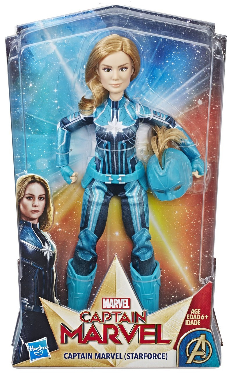captain marvel captain marvel starforce action figure hasbro toys
