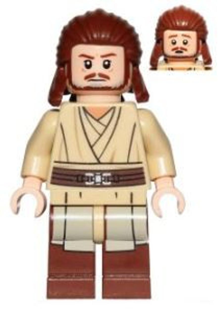 Lego Star Wars Qui Gon Jinn Icon : Episode, Qui-Gon, Minifigure, Without, Loose, ToyWiz
