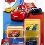 Disney Pixar Cars Die Cast Metal Mini Racers Xrs Racers Car 3 Pack Mattel Toys Toywiz