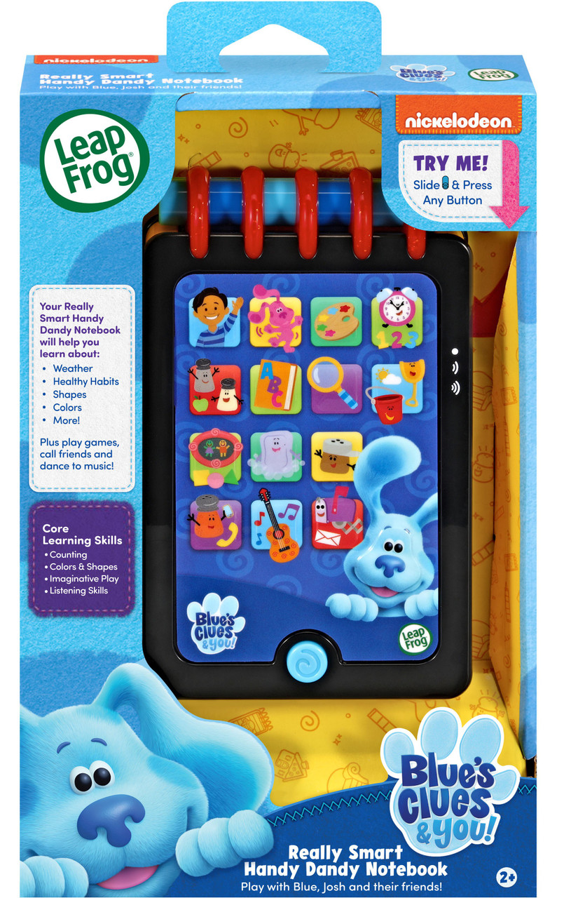 Blue's Clues Notebook Phone : blue's, clues, notebook, phone, Leapfrog, Blues, Clues, Really, Smart, Handy, Dandy, Notebook, Playset, ToyWiz