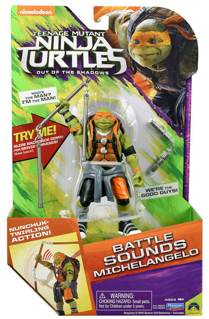 Teenage Mutant Ninja Turtles Out Of The Shadows Toys : teenage, mutant, ninja, turtles, shadows, Teenage, Mutant, Ninja, Turtles, Shadows, Battle, Sounds, Rocksteady, Action, Figure, Playmates, ToyWiz