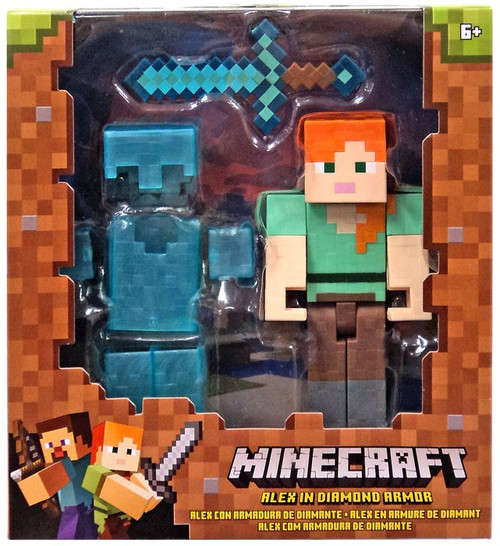 Minecraft Alex In Diamond Armor 5 Action Figure Mattel