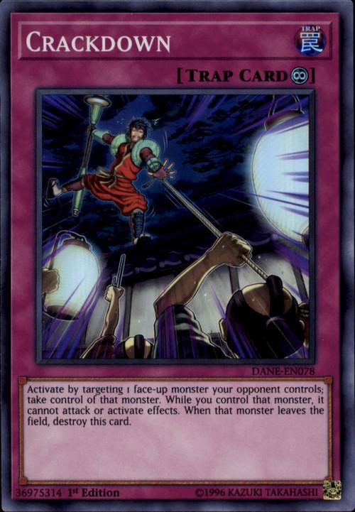 Yugioh Dark Neostorm Single Card Super Rare Crackdown Dane