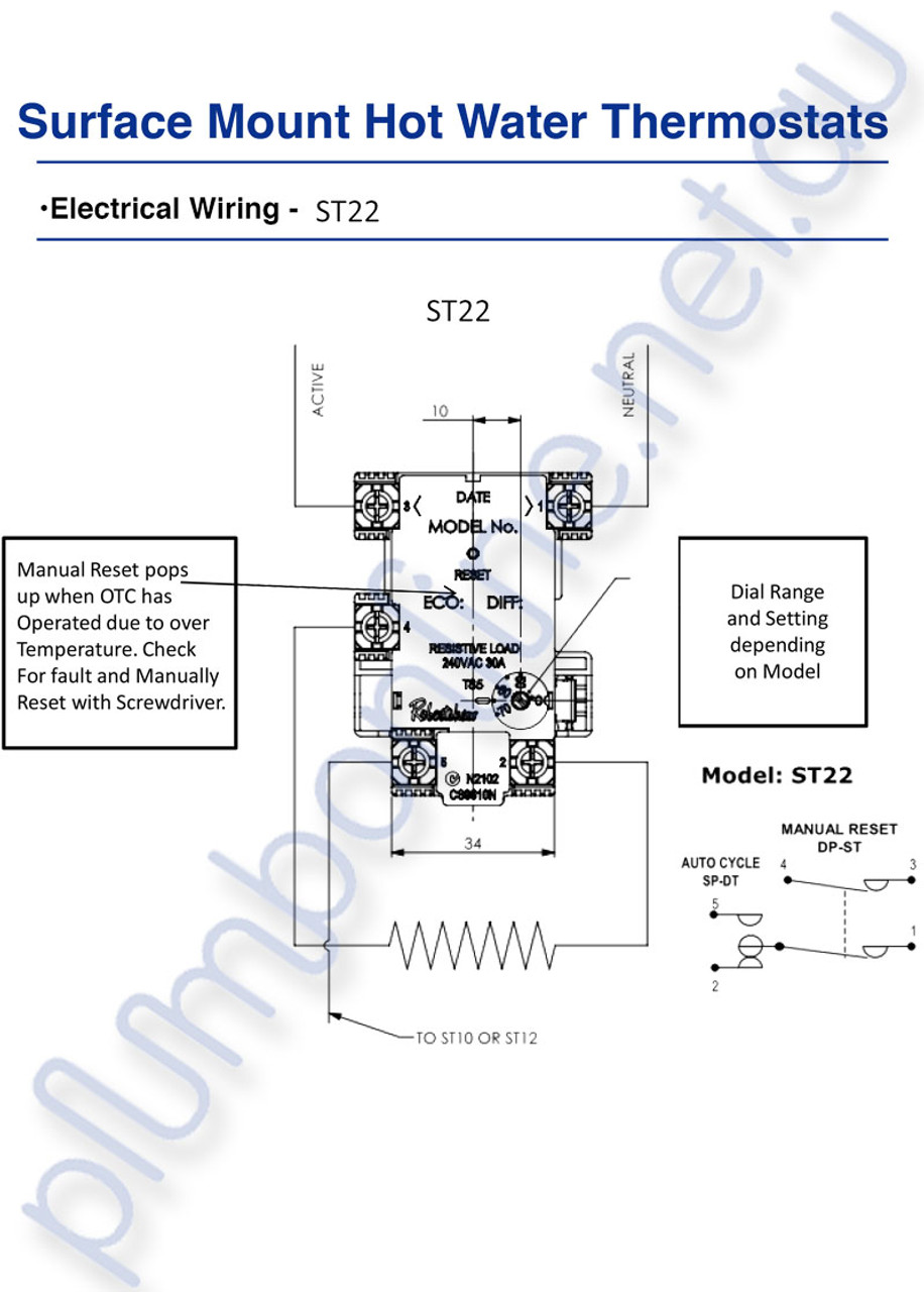 hight resolution of  robertshaw st 22 60k st2207233 surface mount hot water thermostat wiring