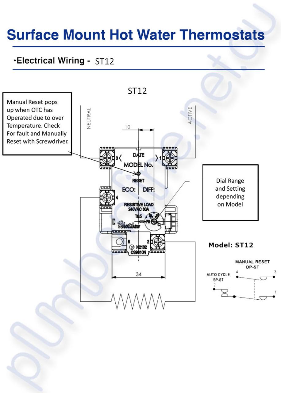 medium resolution of  robertshaw st1301133 surface mount hot water thermostat wiring