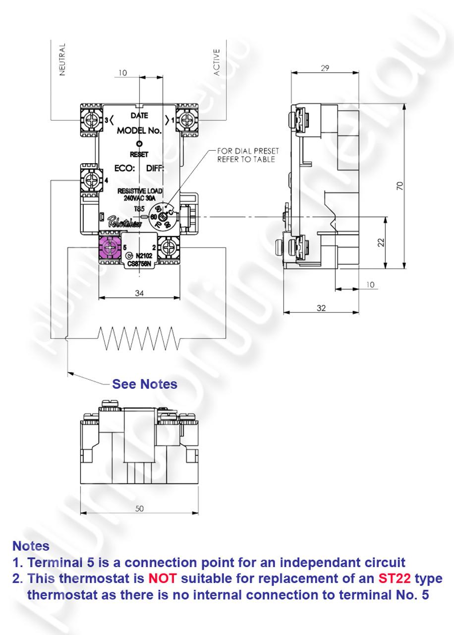 medium resolution of  robertshaw st1208133pk rheem heat pump replacement thermostat wiring detail