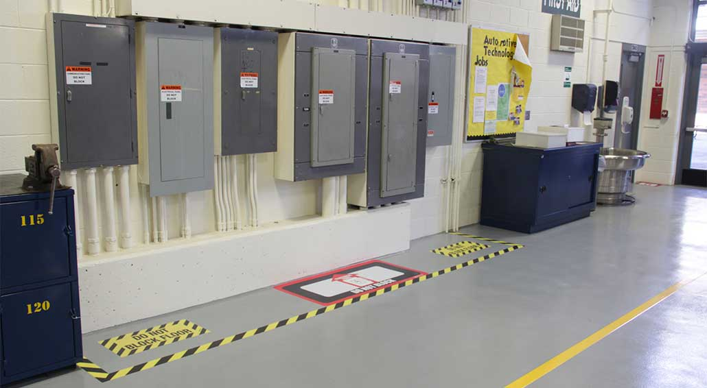 electrical panel hazards humbucker wiring kit floor marking for compliance clearance