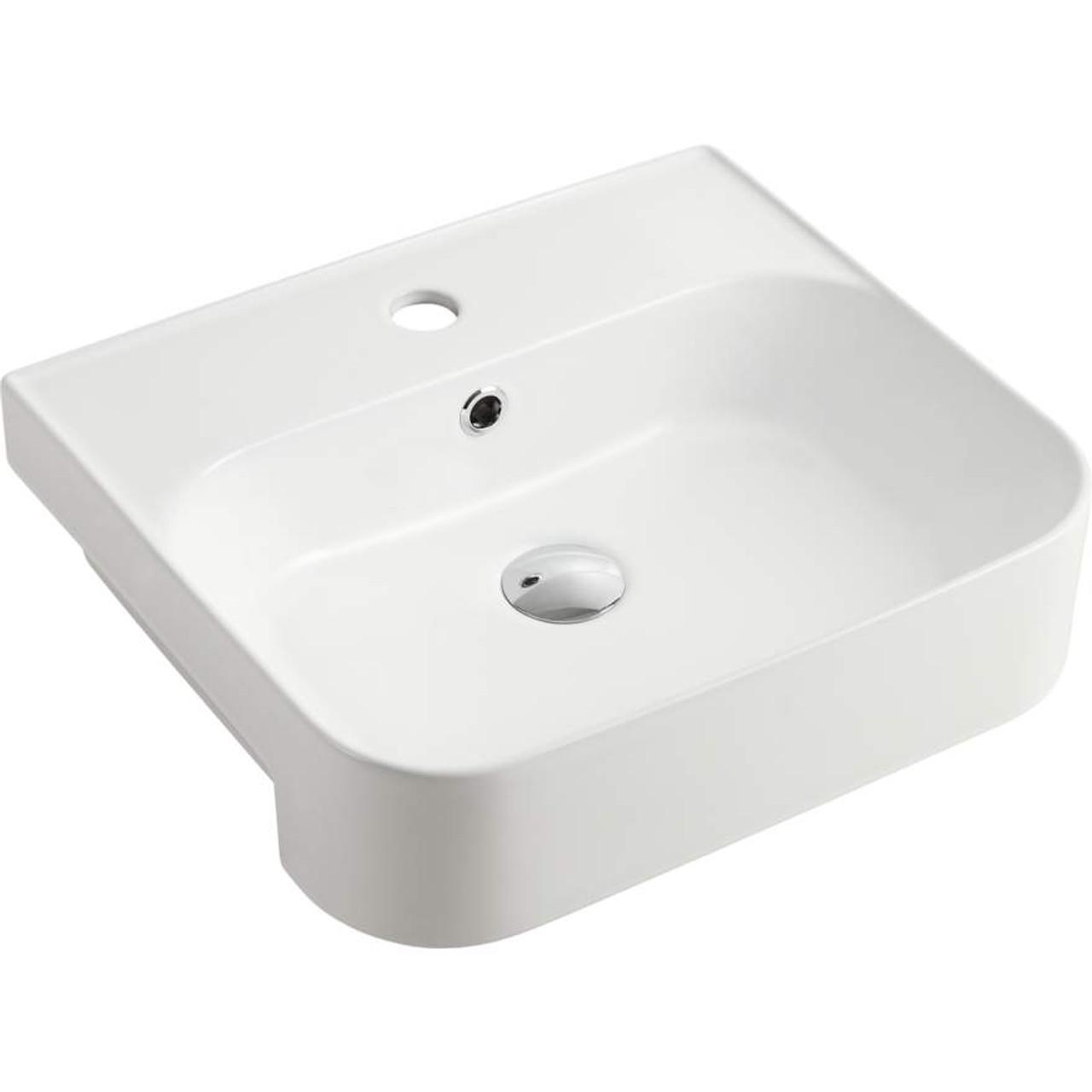 dublin semi recessed basin