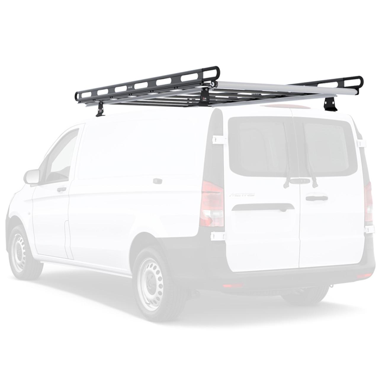https leonardaccessories com product van ladder racks vantech h2 aluminum roof rack mercedes benz metris van