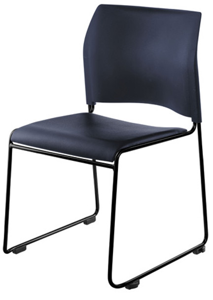 public seating chairs yarn hanging chair national 8700 series blue vinyl cafetorium with black frame