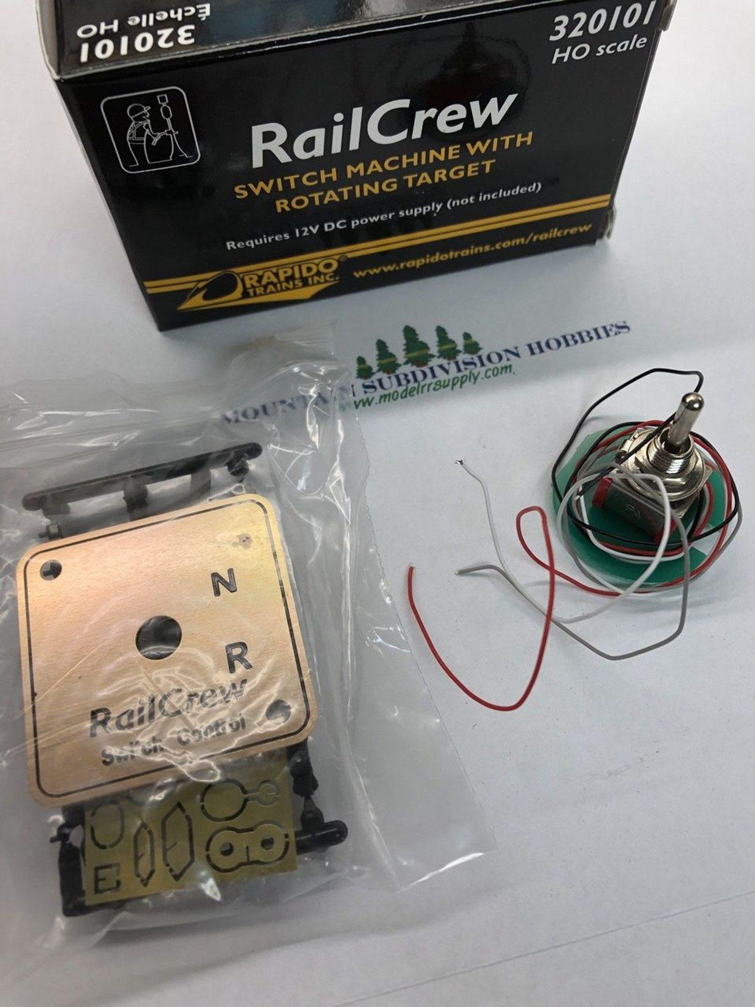 medium resolution of  rapido 320101 railcrew switch machine single