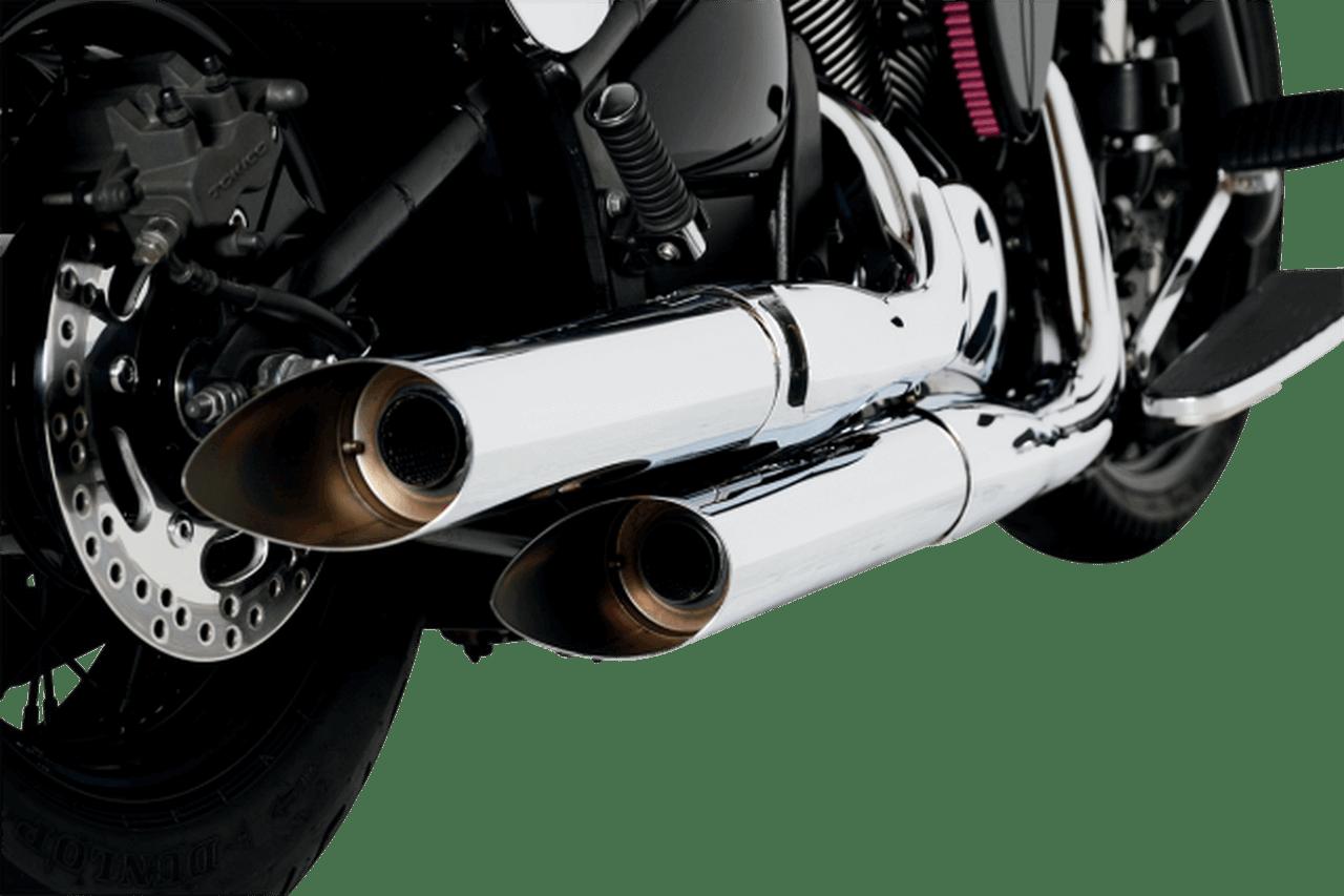 baron custom exhaust hack n slash slip ons for 06 up vulcan 900 cl lt vulcan 900 custom 07 up