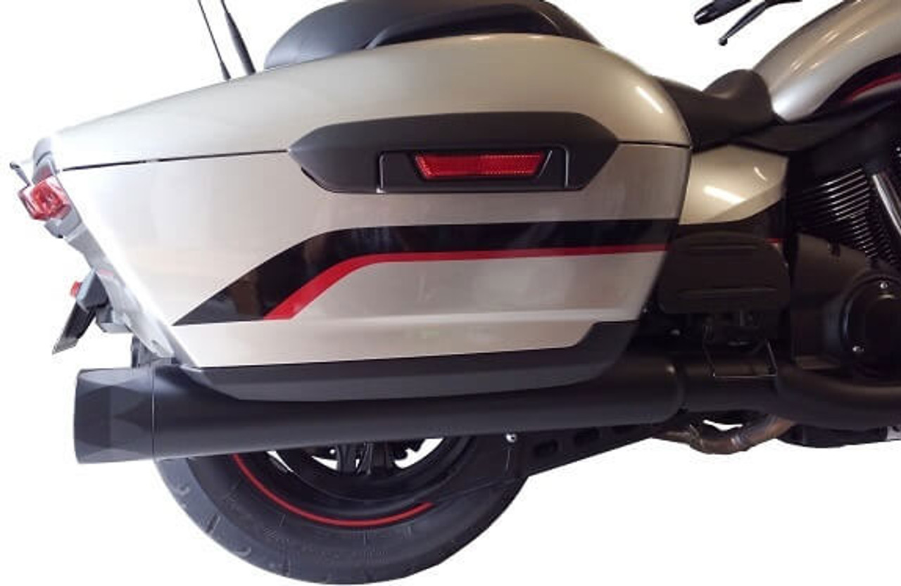 tab performance b a m stick slip on mufflers for 18 up yamaha venture and eluder models choose chrome or black
