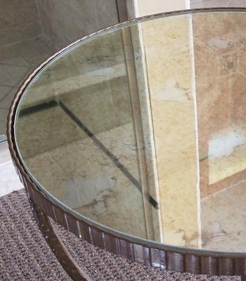 custom glass mirror table tops