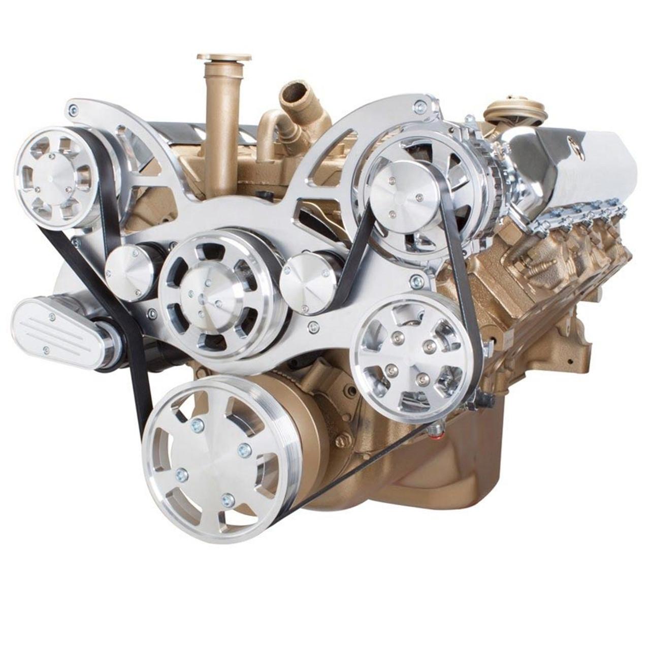 small resolution of serpentine system for oldsmobile 350 455 power steering alternator