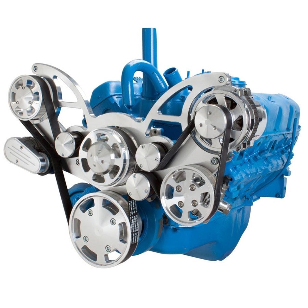 serpentine system for amc jeep 306 360 401 power steering alternator  [ 900 x 900 Pixel ]