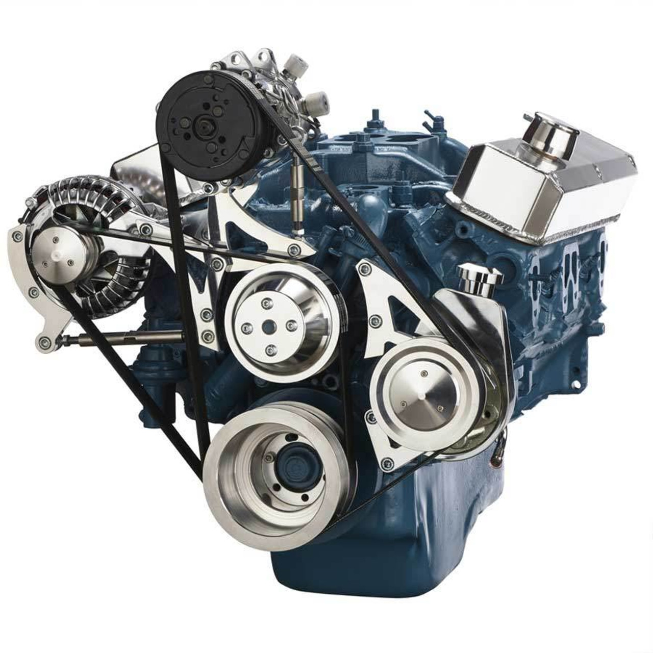 hight resolution of small block chrysler serpentine conversion air conditioning and power steering