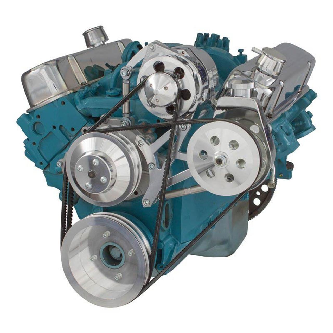 Pontiac VBelt Pulley System (350400, 428 & 455)