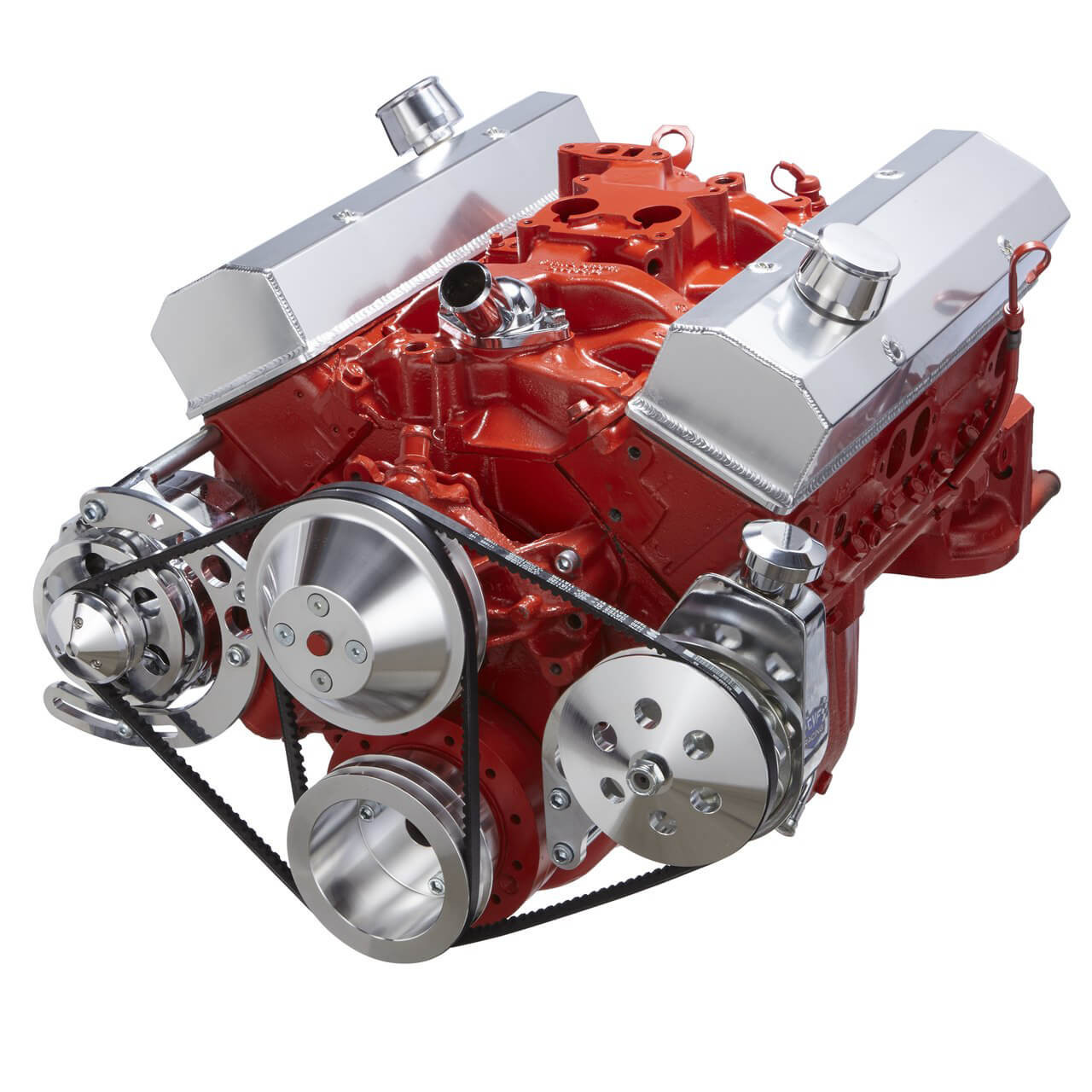 small resolution of chevy small block v belt system alternator power steering