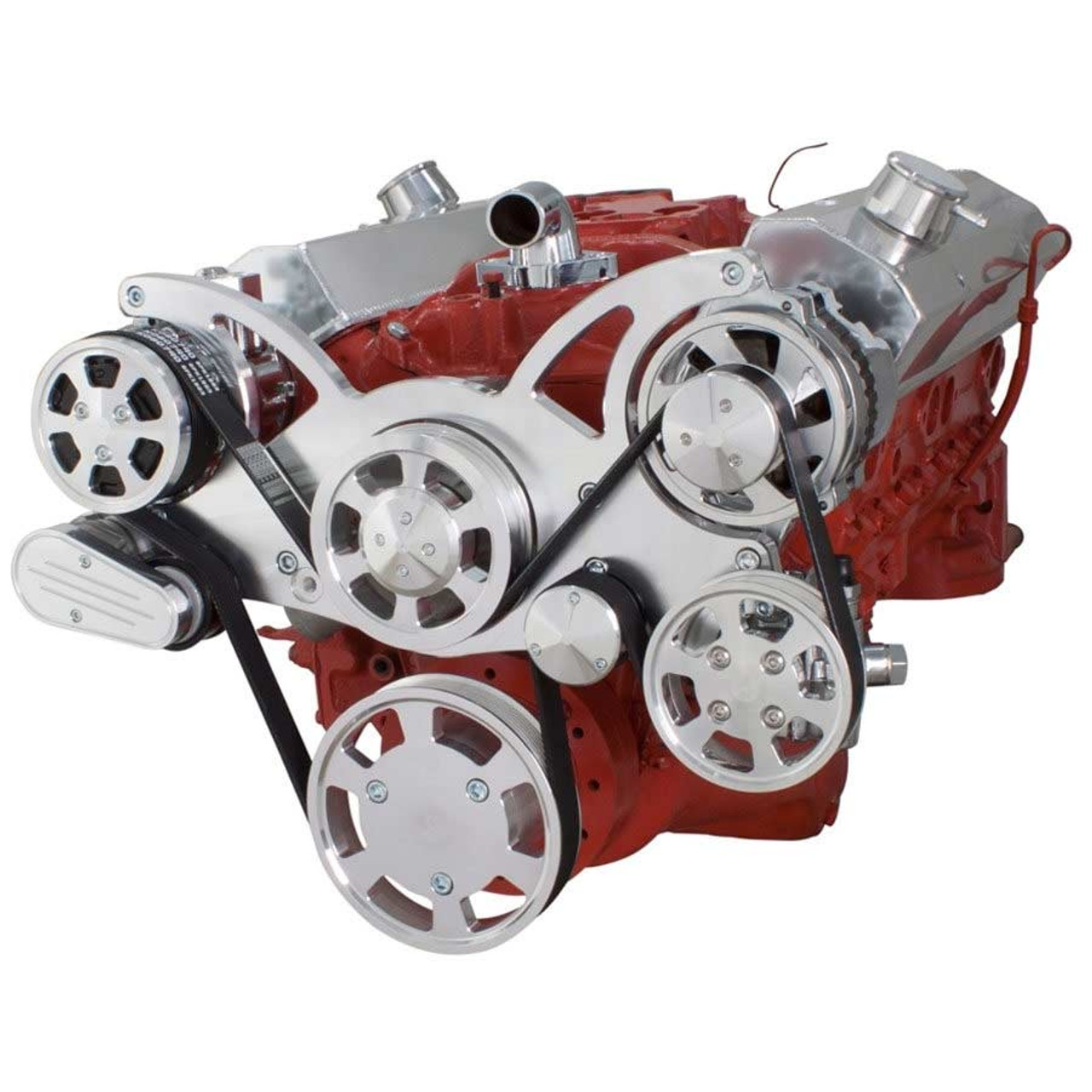 small resolution of  engine serial number serpentine conversion kit for small block chevy 283 350 400 with ac on 283