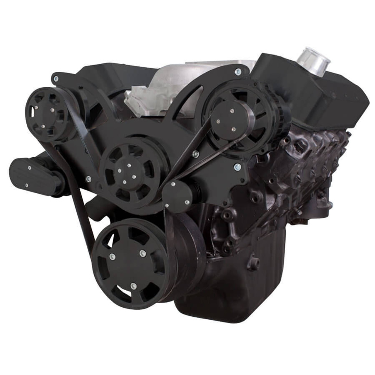 medium resolution of black serpentine system for 396 427 454 alternator only