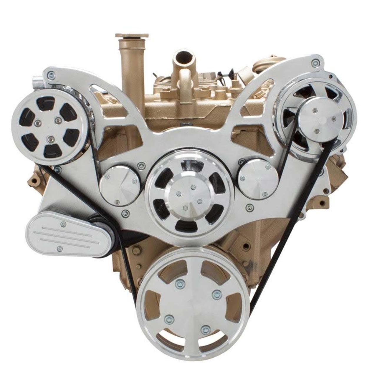 serpentine system for oldsmobile 350 455 ac alternator  [ 1280 x 1280 Pixel ]