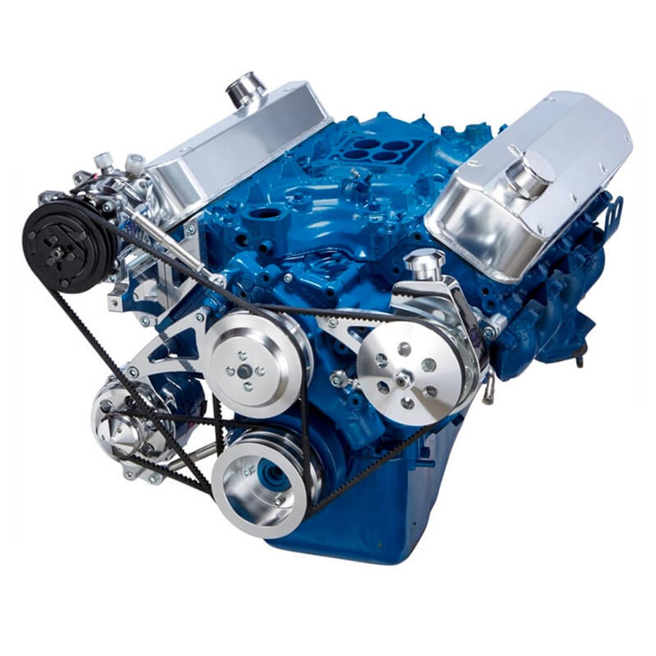hight resolution of big block ford v belt pulley system 429 u0026 460 air conditioningford 429