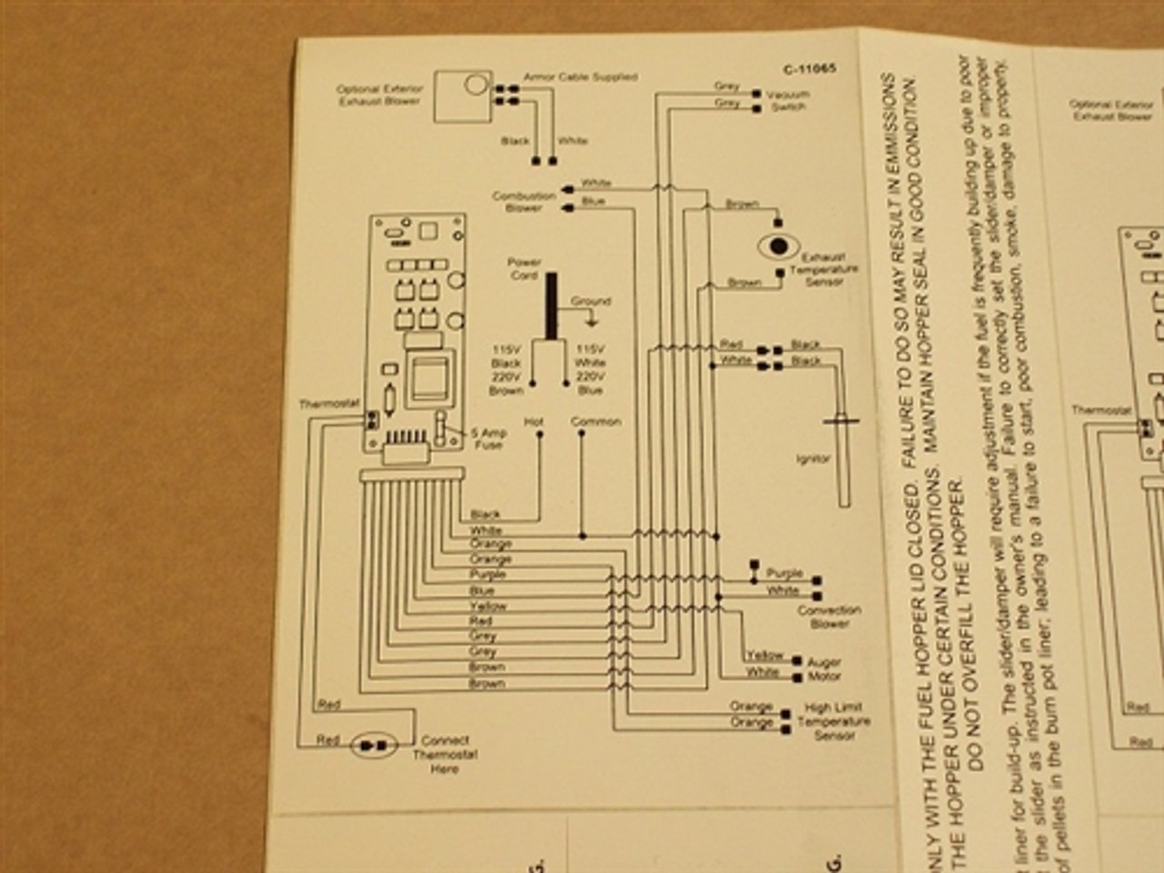 medium resolution of replacement enviro ef5 self adhesive wiring diagram 50 335 hopper joey installation diagram